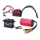Surpass Hobby KK 2440 4600kv Motor Brushless 35A Brushless ESC 3KG Digital Servo Brushless Set para peças 1/16 RC