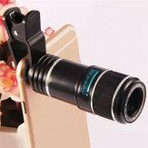12X Evrensel Telefoto Lens Cep Telefonu Optik Zoom Teleskop Kamera iPhone Xiaomi Huawei Için