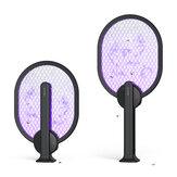 BlitzWolf BW-MLT3 Moscas elétricas mata-mosquitos UV A luz atrai 3000V anti-mosquito mosca zapper dobrável Raquete USB recarregável moscas de verão