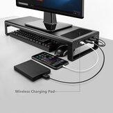 Основание Stand Holder ЭЦП USB Macbook ноутбука многофункционального компьютера с зарядным устройством QI WIreless