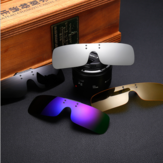 Square Clip on Polarized Night Driving Glasses with Yellow Fishing Women Sunglasses Clips for Myopic