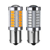 1156 BA15S 33SMD LED Auto Brake Backup Verlichting Draaien Signaal Bulb DC12V 5 W 660LM Rood / Amber