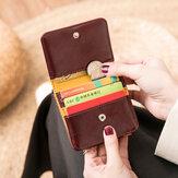 المرأة 4 بطاقة محفظة فتحات ثلاثية الصلبة