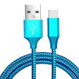 Bakeey 3m 2.1A Nylon Trenzado Type-C Cable de datos de carga rápida para Xiaomi 8 Oneplus 6 Honor 10