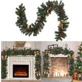 1.8M 2020 dekoracje bożonarodzeniowe rattanowe sztuczne drzewo kwiatowe ozdoba na zewnątrz girlanda wieniec wisiorek akcesoria na przyjęcie bożonarodzeniowe drzwi schody wystrój
