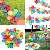 8pcs Rainbow Flower Windmill Сад Ветер Spinner Festival На открытом воздухе Кемпинг Декор