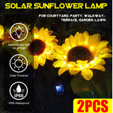 2PCS LED Solar Light Sunflower Lamp Outdoor Courtyard Garden Lawn Pathway Decoration