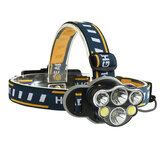 XANES 2606-6 2300LM 2*T6+2*XPE+2*COB Bike Bicycle Headlamp 8 Modes 2*18650 Battery USB Interface