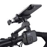 Wheel Up W-099 Versão de extensão Multifuncional de gravação ao ar livre de Vlog Liga de alumínio Motocicleta Bicicleta Guiador de bicicleta Suporte de telefone móvel Suporte para dispositivos entre 55-100mm de largura