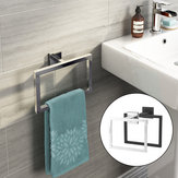 Phụ kiện treo tường phòng tắm hiện đại Chrome Giá treo khăn hình vuông