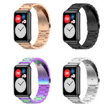 Bakeey Multi-color Stainless Steel Replacement Strap Smart Watch Band For Huawei Watch Fit