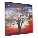 1 Piece Canvas Print Painting Bats Sunset Tree Wall Decorative Printing Art Pictures Framed Wall Hanging Decorations for Home Office