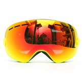 Occhiali da sci per snowboard Anti-fog Double lente UV Motorcycle Riding Yellow Frame
