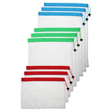 9Pcs Mesh Storage Bag 3 Size Reusable Washable Food Storage Pouch Portable Camping Grocery Bags