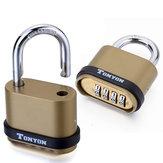4 Digit Password Padlock Security Door Lock Waterproof Outdoor 10000 Combinations