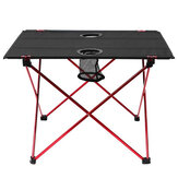 IPRee® 22 × 16,5 × 14,5inch Aluminium Alloy Camping Letvægts Picnic BBQ Square Folding Table