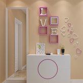 5 Sztuk 10 Kolory DIY Kształt Serca Naklejki Ścienne Naklejka Akrylowe Drzwi Ściany Domu Wystrój Sypialni