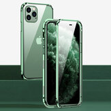 Bakeey For iPhone 12 Pro Max Case 360º Magnetic Flip Touch Screen Double-Sided 9H Tempered Glass + Metal Full Body Protective Case