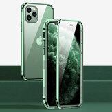 Bakeey per iPhone 12 Pro Max Case 360º Magnetic Flip Touch Screen Double-Sided 9H Vetro temperato + Metal Full Body Pro Custodia protettiva