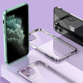 Bakeey for iPhone 12 Pro Max Case Plating Ultra-Thin with Lens Protector Transparent Non-Yellow Shockproof Soft TPU Protective Case