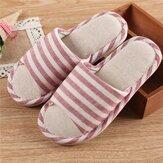 Dames gestreepte open teen comfortabele pantoffels Home schoenen