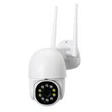1080P 360 ° Görünüm Kablosuz Wifi IP Security Smart Kamera PIR Alarm Uzakdan Kumanda Monitör Kamera