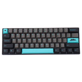 MechZone 104 Keys Graphite Blue Keycap Set OEM Profile PBT Keycaps for 61/68/87/104/108 Keys Mechanical Keyboards Comes With 4 Replacement Keycaps