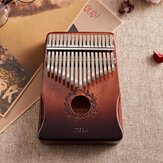 17 key Gauntlets Thumb Piano Mahogany kalimbas Wood acoustic Musical Instrument for Beginner  With Accessories