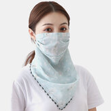 Impresión de verano Cuello Bufanda de protección solar Mascara Transpirable Secado rápido al aire libre Montar a caballo Mascara