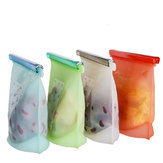 Reusable Silicone Food Storage Bag Vacuum Food Fresh Sealer Container Kitchen Fridge Tools