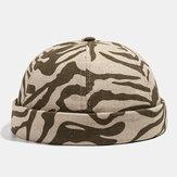 Collrown Khaki Skull Cap Cotton Verschiedene Muster Verstellbare Kappe Krempenlose Hüte