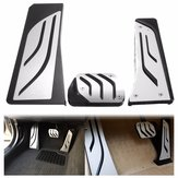 Car Gas Brake Footrest Foot Pedals Plate Pad Kit For BMW 5 6 7 Series AT LHD F10 F11 F12