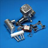 DLE85 85CC Engine Gasoline Single Cylinder Two-Stroke Side Exhaust Natural Air-cooled Hand Start Displacement for RC Aircraft