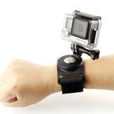 SHOOT 3 en 1360 degrés support de sangle de poignet de gant rotatif pour caméra de sport Gopro SJCAM Yi