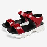 LOSTISY Women Comfy Slip Resistant Hook Loop Casual Sports Sandals