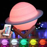 3D LED USB Saturn Star Light Sonno Romantica notte stellata Sky Scrivania lampada remoto Controllo
