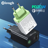 Elough 20W 2-Port USB PD Charger Dual 20W USB-C PD3.0 QC3.0 FCP SCP Fast Charging Wall Charger Adapter EU/US/UK Plug for iPhone 12 Pro Max for Samsung Galaxy Note S20 ultra Huawei Mate40 OnePlus 8 Pro