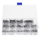 280Pcs M3 304 Stainless Steel Hex Socket Cap Head Screw Bolts Assortment Set