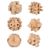3D Wooden Kong Ming Lock Puzzle Game Toy Small Size Bamboo Brain Teaser Game Education Intelligent Toy for Kids