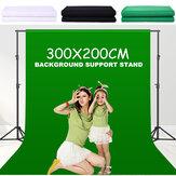 Fotoğraf Stüdyosu Arkaplan Destek Standı Kit Siyah Beyaz Yeşil Ekran Zemin Seti