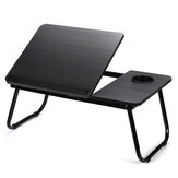 Liftable Folding Computer Desk Laptop Stand 4 Heights Adjustable with Cup Holder Lap Bed Table Tray Breakfast Table