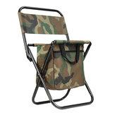 Chaisepliantedecamouflagedecamping en plein air de pêche chaise pliable légère avec le sac