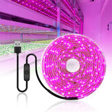 0.5 / 1/2/3/4 / 5M USB LED Grow Strip Light Impermeabile 2835SMD Hydroponic Full Spectrum Indoor Plant Flower lampada