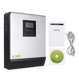 3KVA Solar Wechselrichter 24V 220V Wechselrichter Reine Sinuswelle Eingebaute 50A PWM Solar Laderegler Batterie Ladegerät