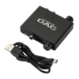 Grwibeou DAC01 192KHZ Digital to Analo DAC Audio Converter RCA Output 3,5mm Jack Adapter with Volume Adjustment Bass Control