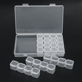 28 Slots Diamond Embroidery Painting Tool Transparent Plastic Jewelry Storage Box Nail Art Beads Organizer Container