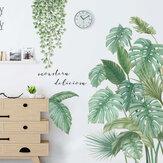 Groene bladeren muurstickers voor slaapkamer woonkamer eetkamer keuken kinderkamer DIY vinyl muur stickers deur muurschilderingen