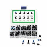 Chave de 180pcs 10 tipos 6x6mm Interruptor de botão tátil micro-gatilho Mini kit de sortimento de tato momentâneo