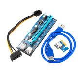 PCI Express PCI-E da 1X a 16X Riser Card 6Pin PCIE USB3.0 SATA Expansion Cable per Miner Mining BTC Dedicated Adapter