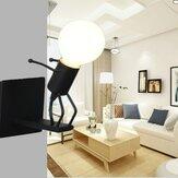 E27 LED Duvar lambası Yaratıcı Monte Demir Başucu Aplik Lamba Çocuklar için Bebek Odası Oturma Odası Yemek Ampul Olmadan
